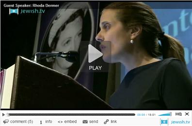 Click to watch video - Rhoda Dermer