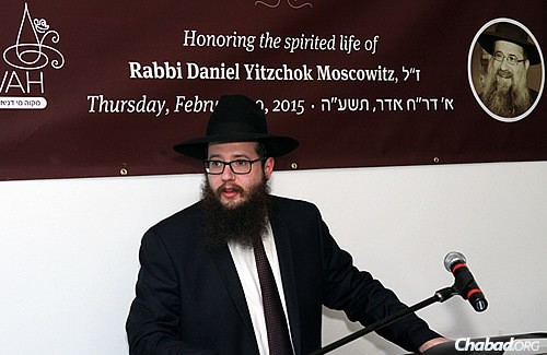 Rabbi Yosef Moscowitz, director of the Bucktown Chabad and executive director of Lubavitch Chabad of Illinois