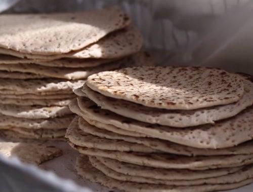 Soft matzah baked in the UK (Image: Mashiach Kelaty)