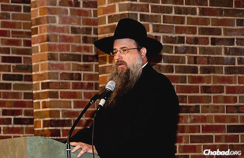 Rabbi Daniel Moscowitz, regional director of Lubavitch Chabad of Illinois who was a driving force behind the kinusim until his untimely passing last year.