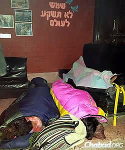 There is no electricity, water or phone service to the Chabad center, and food is dwindling.