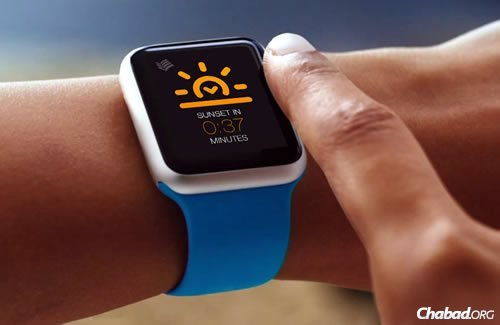 The new Jewish app will make wearables even more handy for many users. (Concept Image)