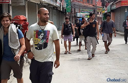 """Israelis and others have been heading to the Chabad center. Chani Lifshitz says """"Kathmandu looks like a ghost town."""""""