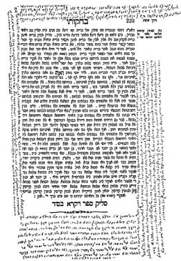 A page of Rabbi Levi Yitzchak's notes on Zohar, written with ink secretly prepared by Rebbetzin Chana. On the original, one can notice the various colors of the homemade ink. These incredible manuscripts later made their way to New York, and were published by their son, the Rebbe.