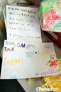 Jewish children in Denmark sent letters to Israeli soldiers thanking them for all they do, long before the incidents in February.