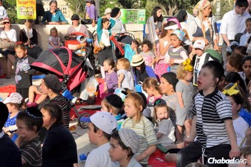 The annual children's parade and festival sponsored by Chabad of Rechavia in Jerusalem.