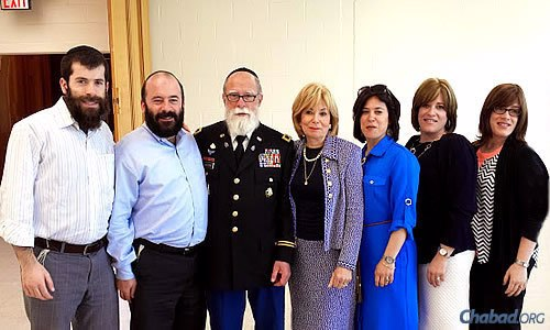 Goldstein and members of his family at the April 29 ceremony
