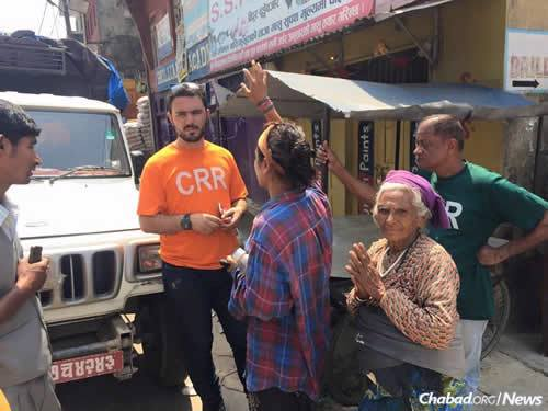 There's still a great need for basic necessities in cities like Kathmandu. (Photo: Chabad of Nepal)