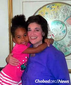 Goldberg with Sha'La, whom she's been caring for and wants to see graduate from medical school.