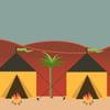 Yitrô Parte do Acampamento no Deserto
