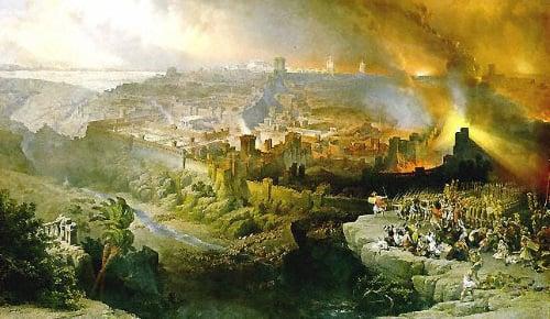 חורבן בית המקדש. ציורו של ארקול דה רוברטי