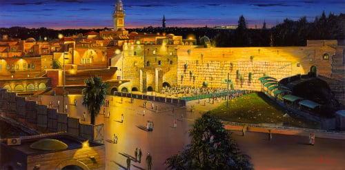 """""""ירושלים"""", ציורו של אלכס לוין"""