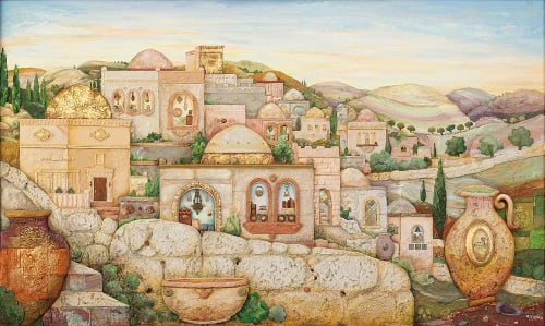"""""""ירושלים לעתיד לבוא"""". ציורו של מיכאל מוצ'ניק"""