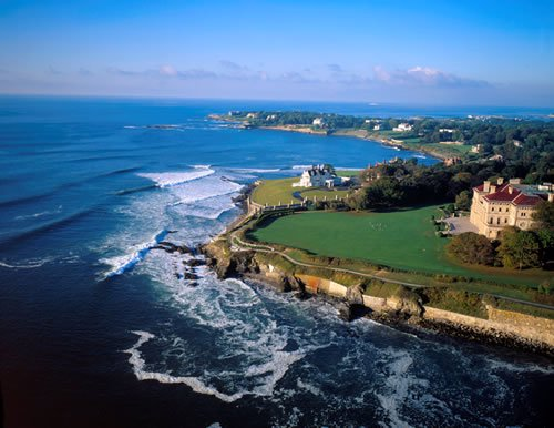 The picturesque Rhode Island shoreline