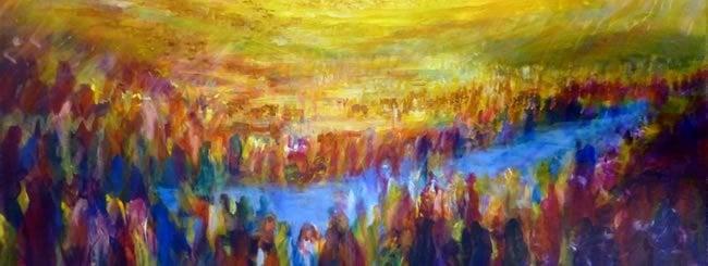 Matot Art: Crossing Over the Jordan River