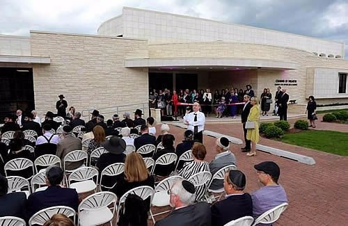 More than 200 people attended the grand opening of the new Chabad Center for Jewish Life and Learning in Wilmette, Ill., co-directed by Rabbi Dovid and Rivke Flinkenstein, who were joined two years ago by Rabbi Moshe and Esther Leah Teldon.