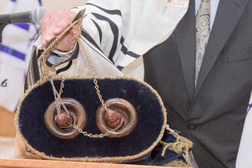 A Torah scroll