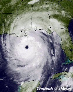 Satellite photo of Hurricane Katrina bearing down on New Orleans. (Photo: NOAA)