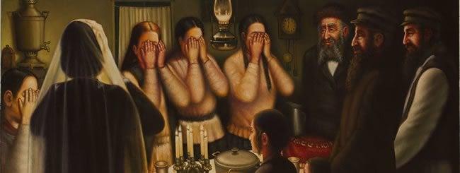(Shabbat in the Shtetl - by Eduard Gurevitch)
