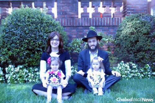 Rabbi Shimon and Chanie Gruzman, co-directors of Chabad of Castro Valley, Calif., and their children