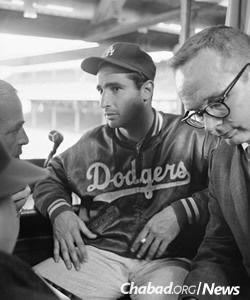 """""""There was never any decision to make,"""" he wrote in his autobiography. """"Because there was never any possibility that I would pitch. Yom Kippur is the holiest day of the Jewish religion. The club knows that I don't work that day."""""""