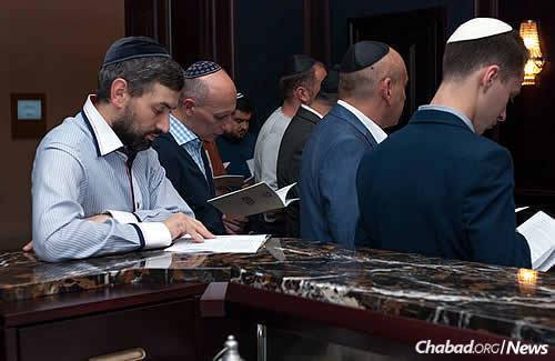 Some 150 Jewish natives of Donetsk ushered in the Jewish New Year at a hotel in central Kiev, the new focal point of their transplanted Jewish community.
