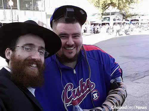 Kotlarsky and a Chicago Cubs fan