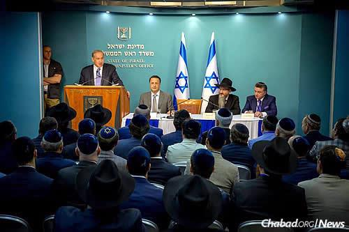 """""""The terrorists do not recognize the Jewish state and do not want to see us in this land,"""" declared Netanyahu. (Photo: Ezekiel Itkin)"""