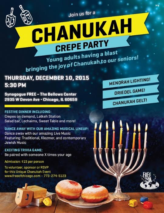 Chanukah Crepe Party
