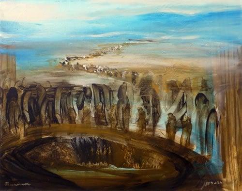 יוסף בבור. ציור: יורם רענן