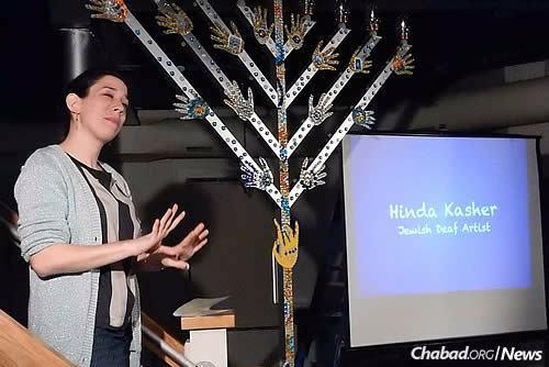Jewish Deaf artist Hinda Kasher