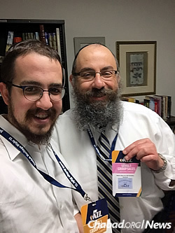 Zippel with his father, Rabbi Benny Zippel, co-director of Chabad Lubavitch of Utah; 300 tickets have been sold to the Jewish community for the Jazz game, much more than expected.