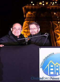 Chief Rabbi of France Haim Korsia, right, with Ariel Goldman, president of the FSJU (Photo: Thierry Guez)