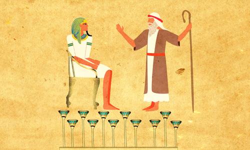 יעקב עומד לפני פרעה. ציור: ספירה רוז