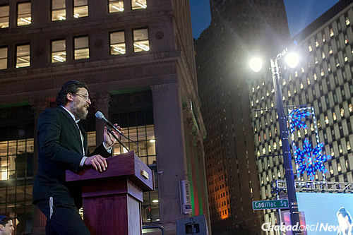 """Rabbi Yisrael Pinson, co-director of Chabad of Greater Downtown Detroit (commonly known as """"Chabad in the D"""")"""