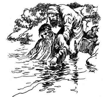 """""""A poor beggar appeared out of no where, and pulled him out of the water."""""""