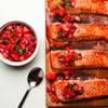 Cedar-Planked Salmon with Strawberry-Chili Salsa