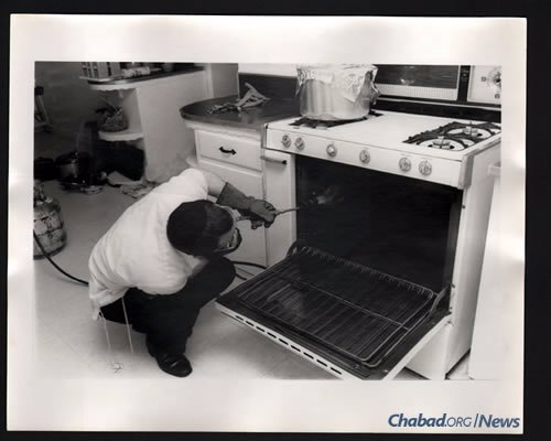 Before the advent of self-cleaning ovens, much of the koshering process was done via blow torch.