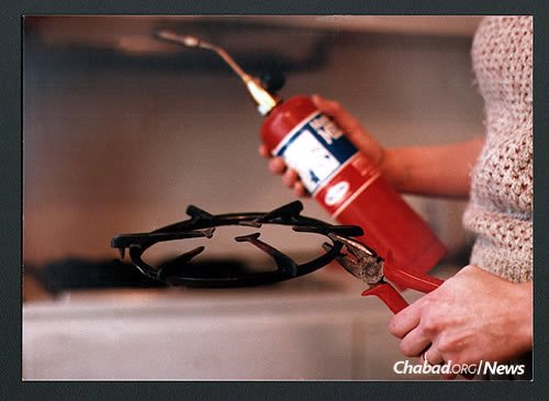 A blow torch is the tool of trade for koshering kitchens.