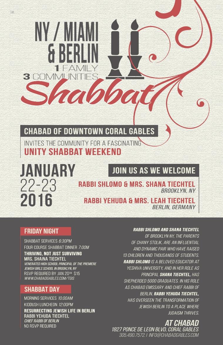 Miami-NY-Berlin Shabbat