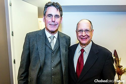 Jeffrey Justin, left, and Dr. Walter Molofsky, who said the event was both moving and successful.