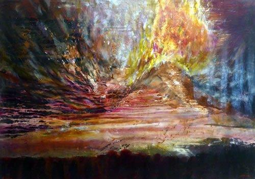 הר סיני. ציור: יורם רענן