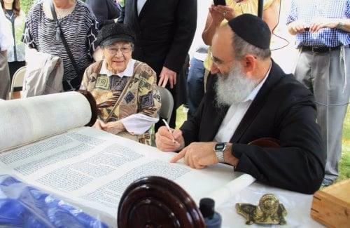 Completing a Torah in Skokie, Ill.