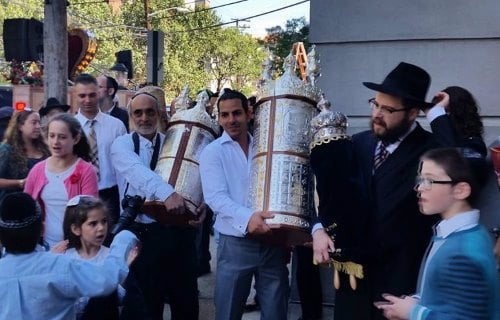 Welcoming a new scroll to Chabad of Hoboken, N.J.