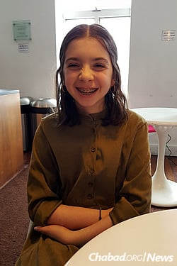"""Chava Freundlich from Beijing, China, will participate in a new """"Pioneer Program"""" for seventh- and eighth-graders."""