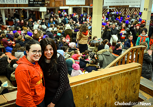 """Simi Shemtov, right, coordinator of the Young Shluchos Conference, points out that there is an excellent lineup of staff this year, """"most of whom are shluchos themselves and have been to Kinus for many years."""" (Photo: Baruch Ezagui)"""