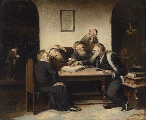 """Carl Schleicher, """"Eine Streitfrage aus dem Talmud"""""""
