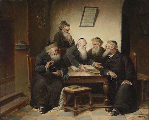 """Carl Schleicher, """"Beim Rabbi"""""""