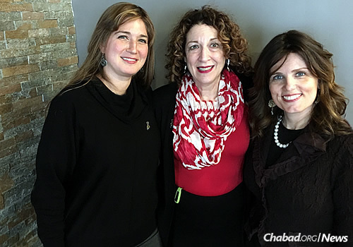 From left: Dr. Sarah Kranz-Ciment of the Ruderman Chabad Inclusion Initiative, her colleague Shelly Christensen and Nechama Shemtov, director of education and women's issues at American Friends of Lubavitch (Chabad) in Washington, D.C.