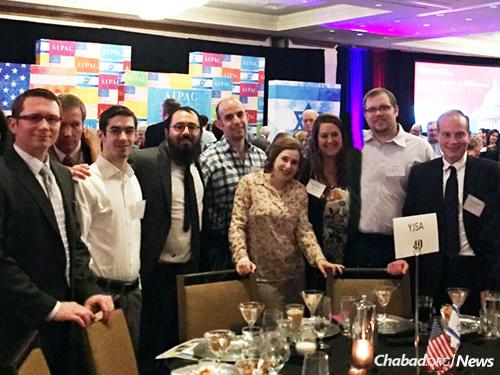 San Antonio representatives and the rabbi at a prior AIPAC event.